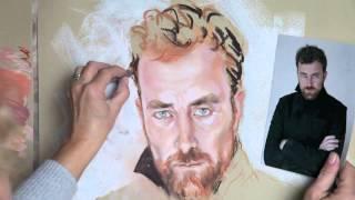 getlinkyoutube.com-Making a Pastel Portrait, by Graciela Bombalova, Bogra