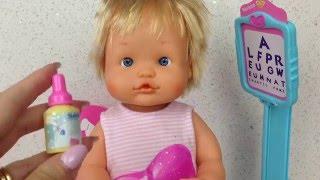 getlinkyoutube.com-❀ Видео с куклой Пупсик Идём к Доктору Окулисту Игрушки для Девочек Играем   дочки матери