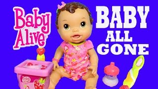 getlinkyoutube.com-Baby Alive BABY ALL GONE Baby Alive Pooping Peeing Doll Dirty Diapers Talking Doll Toys