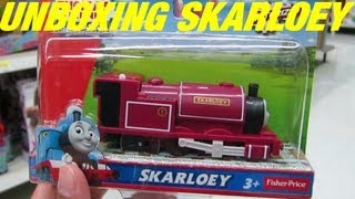 getlinkyoutube.com-Unboxing SKARLOEY - Thomas and Friends Trackmaster Motorized Engine