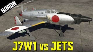 getlinkyoutube.com-J7W1 vs Jets!  Slick is a Gigolo - War Thunder