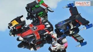 getlinkyoutube.com-[TMT][091] Review DX DekaWing Robo! Tokusou Sentai Dekaranger! S.W.A.T. Megazord!
