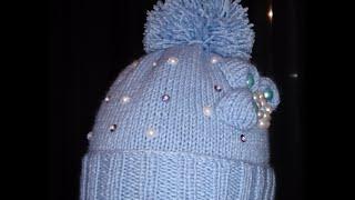 getlinkyoutube.com-Вязаная детская шапочка!Вяжем вместе.Baby Beanie!knitting Шапка девочкам и мальчикам как украсите!