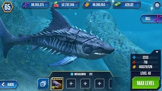 getlinkyoutube.com-MEGALODON level 40 AQUATIC DINO - Jurassic World The Game