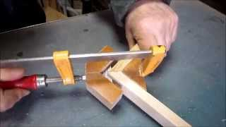 getlinkyoutube.com-Feather spline miter joint Jig 挽込み留め接ぎ用治具