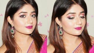 getlinkyoutube.com-Festive Plum and Gold Makeup Tutorial with Nykaa | corallista