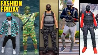 GTA Online - FASHION FRIDAY! 30+ OUTFITS! (Special Forces, Red Combat, Camo Gang & More)