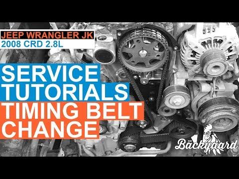 Timing Belt Change - 2008 Jeep Wrangler JK 2.8L CRD - Service Tutorial