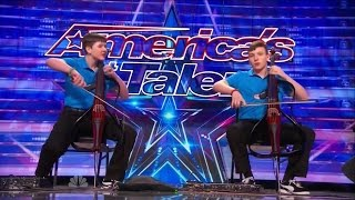 getlinkyoutube.com-America's Got Talent S09E05 Emil & Dariel Brothers perform Jimi Hendrix on Dueling Cellos