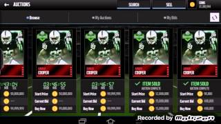 Full Live Auction Glitch! Madden Mobile 16 Profit!