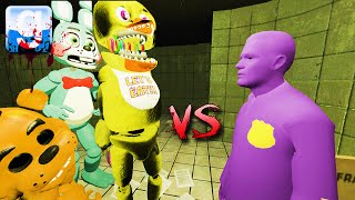Gmod PURPLE GUY vs ANIMATRONICS ON FNAF 3 MAP! (Garry's Mod Sandbox Fun)