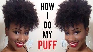 getlinkyoutube.com-How to do a Forward High Puff on Natural Hair