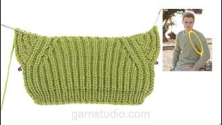 getlinkyoutube.com-DROPS Knitting Tutorial: How to knit false raglan