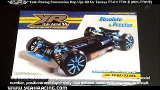 Yeah Racing Aluminum Conversion Kit for Tamiya TT01/E Review (Hop ups parts for 1:10 RC Cars)