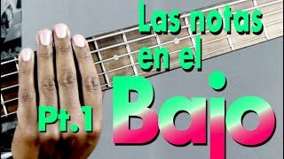 Bajo Notas trastes 1 a 5 - Aprende Musica Facil con Danny Cabezas width=