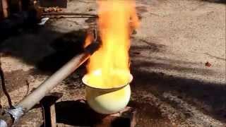 getlinkyoutube.com-Building a Waste oil burner from Grannies Chamber Pot