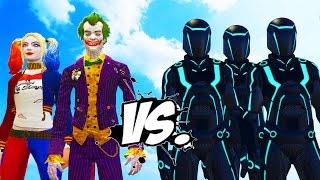getlinkyoutube.com-JOKER & HARLEY QUINN VS TRON ARMY - EPIC BATTLE
