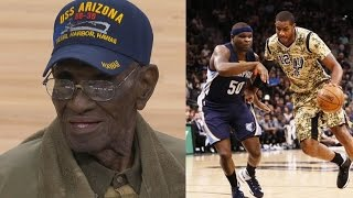 Spurs Honor Richard Overton 110 Years Oldest Living WWII Vet!