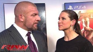 Triple H and Stephanie discuss what awaits at Survivor Series: Raw, Nov. 10, 2014
