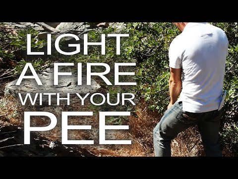 Light a Survival Fire With Urine!