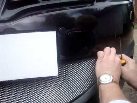 Защитная сетка радиатора Nissan Qashqai 2011 chrome