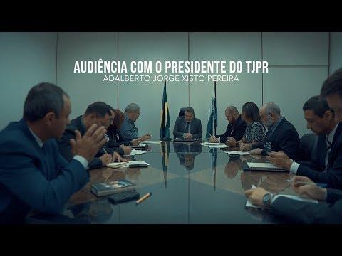 Audiência com presidente do TJPR no dia 03 de julho