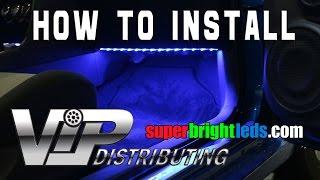 getlinkyoutube.com-How to install LED footwell Lights with RGB LED Strips