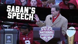 getlinkyoutube.com-Hear Nick Saban's passionate speech at Alabama's 2016 National Championship celebration