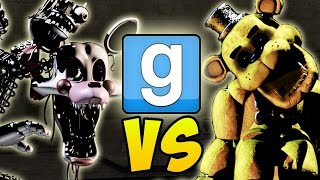 "getlinkyoutube.com-Garry's Mod ""GOLDEN FREDDY VS MANGLE"" Gmod NPC Battle (Gmod Five Nights At Freddy's Mod Gameplay)"