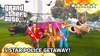 getlinkyoutube.com-GTA 5 Online 5 STAR HEISTS Destruction! 5 Star POLICE Getaway in GTA Online! (GTA 5 PS4 Gameplay)
