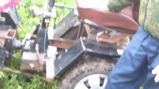 getlinkyoutube.com-Самодельный мини трактор из мотоблока