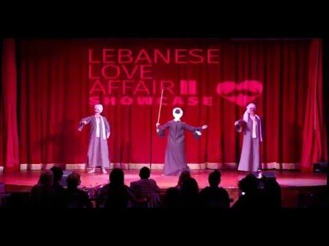 Saidi Raqs Parody by Bellydancers Jennifer, Kata Maya & Arielle at The Lebanese Love Affair II