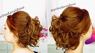 getlinkyoutube.com-Penteado Madrinha/Noiva/Formanda ( Cabelo Curto) Priscila Barbosa