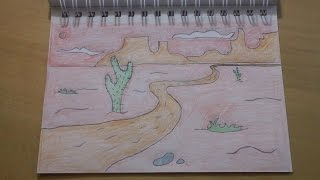 getlinkyoutube.com-190 - How to Draw! Another Cool Easy Cartoon Desert Background