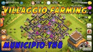getlinkyoutube.com-Clash of Clans ITA -  Villaggio Farming muni all'8