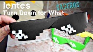 getlinkyoutube.com-Como Hacer Lentes Turn Down For What CASEROS Origami de papel