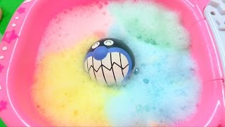 getlinkyoutube.com-アンパンマン アニメおもちゃ カラフルな色遊び 泡 アイス スライム おままごと 人形劇