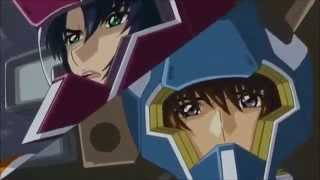 getlinkyoutube.com-Gundam Crossover- Rau, Shinn, Kira & Athrun vs Setsuna f seiei, Lockon ,Tieria ,Marie & Aleluja