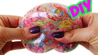 getlinkyoutube.com-DIY МЯЧИК АНТИСТРЕСС С РЕЗИНКАМИ | DIY Orbeez Stress Ball!