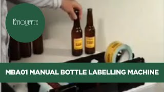 getlinkyoutube.com-MBA01 Manual Bottle Labelling Machine and Label Applicator