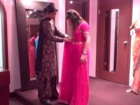 How to tie a Saree -  Tie a Sari Instruction Video 1