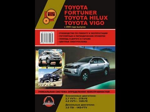 Руководство по ремонту Toyota Fortuner/Hilux/Vigo