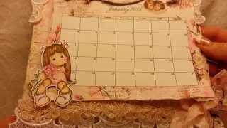 getlinkyoutube.com-Magnolia Tilda Shabby Chic Wall Calendar for Craft Fantastic and KSP