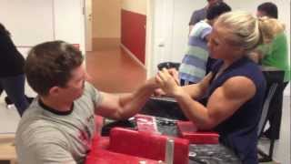 getlinkyoutube.com-Sarah Bäckman armwrestling training