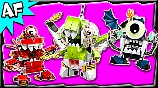 getlinkyoutube.com-Lego Mixels MAX Series 4: Orbitons, Infernites, Glowkies Stop Motion Build Review