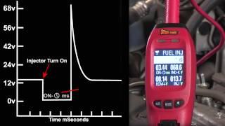 getlinkyoutube.com-Power Probe IV - Injector Mode, Testing Fuel Injectors