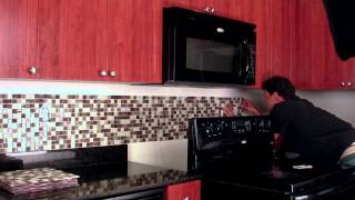 getlinkyoutube.com-Do it Yourself Backsplash Peel & Stick Tile Kit