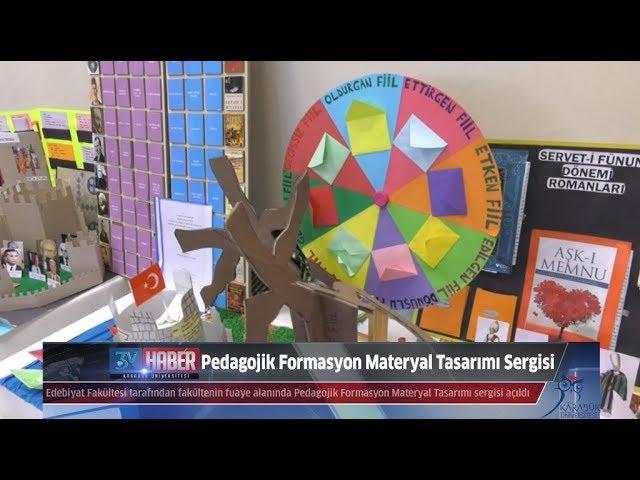 Edebiyat Fakültesi Pedagojik Formasyon Materyal Sergisi Açıldı