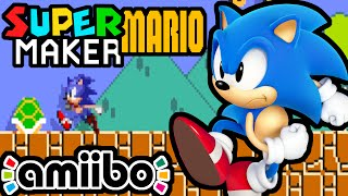 Super Mario Maker PART 2 Gameplay Walkthrough (Sonic Amiibo, New Delivery, 100 Challenge) Wii U