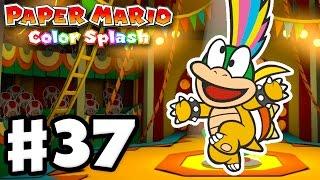 getlinkyoutube.com-Paper Mario: Color Splash - Gameplay Walkthrough Part 37 - The Emerald Circus 100%! (Nintendo Wii U)